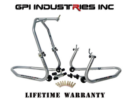 GP Pro Series - Front Headlift and Rear Stand Set - Silver