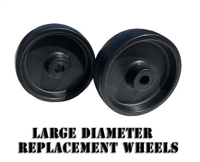 "Larger Diameter 4"" Replacement Wheels"