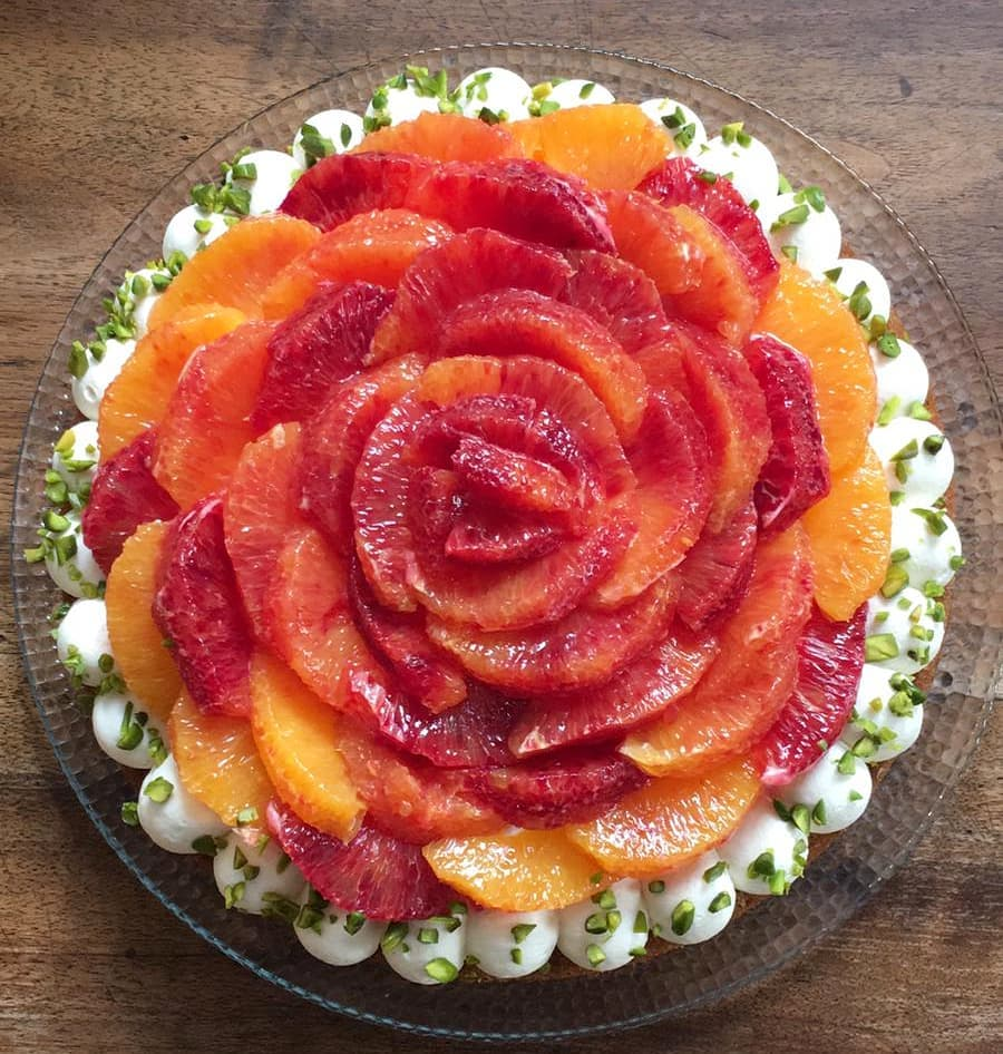 Financier pistache oranges sanguines