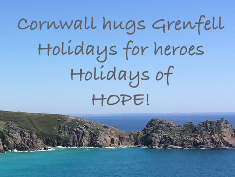 PR01: 'Cornwall Hugs Grenfell' 140+ Cornish holiday weeks pledged for firefighters and Grenfell