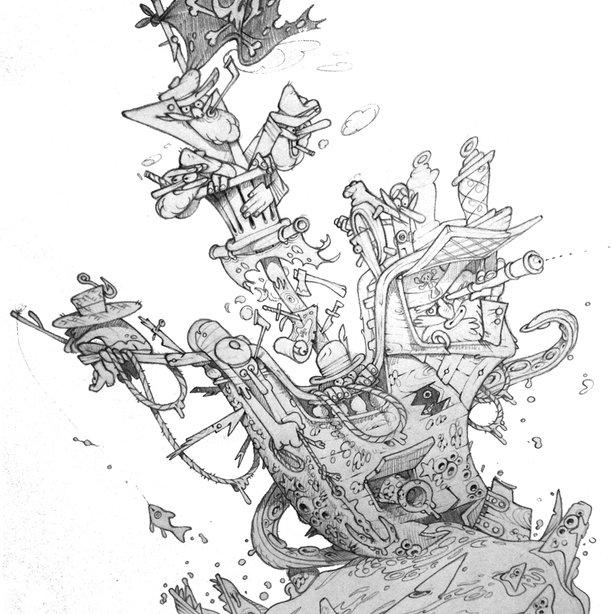 busy vessel sketch