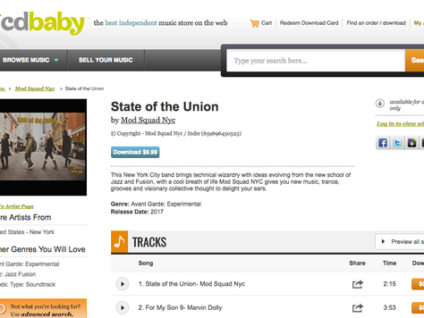"Mod Squad NYC ""State Of The Union"" is for sale on CD Baby"