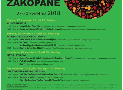 Sisters in Jazz | Wiosna Jazzowa w Zakopanem | Unesco International Jazz Day | 30.04.2018