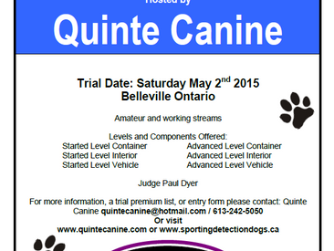 Quinte Canine Scent Detection Trial - FULL
