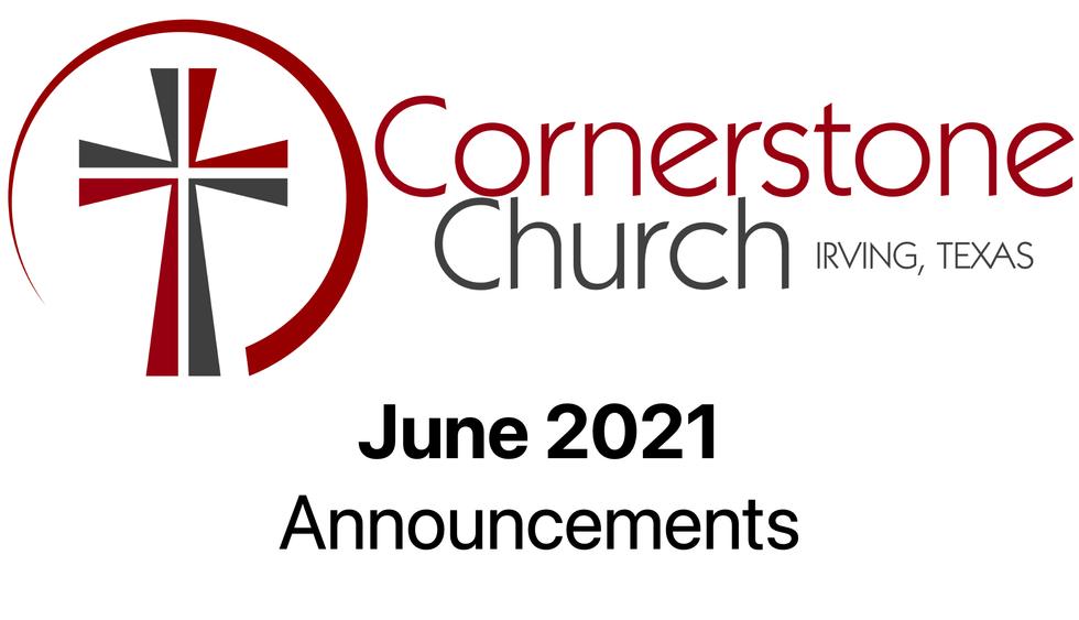 June 2021 Announcements