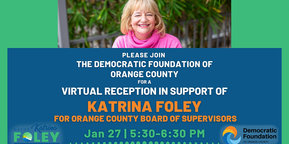 Virtual Reception with The Democratic Foundation of Orange County!