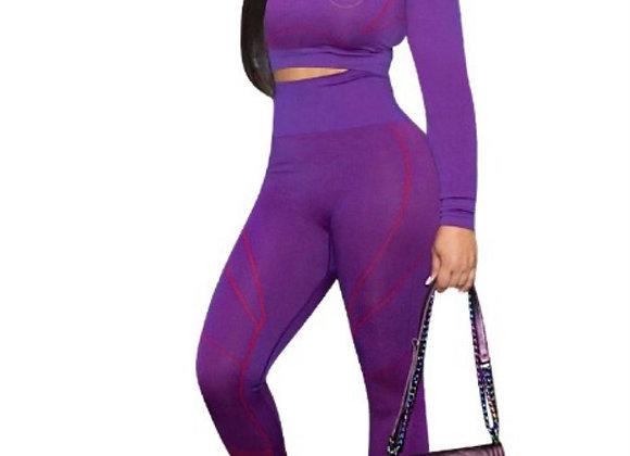 Purple Two Piece Set - Beauty Behavior Set