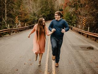 Hunter + Becca // Fall Creek Falls Engagement Session