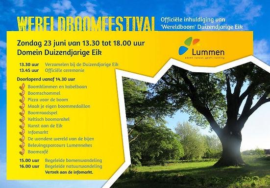 Activiteit: Wereldboomfestival op domein Duizendjarige Eik