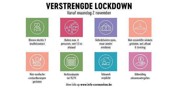 COVID-19: Vanaf maandag 2 november verstrengde lockdown