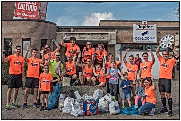 Hoeseltse joggers verzamelen 100 kilo zwerfvuil