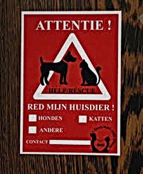 Sticker voor redden van huisdieren