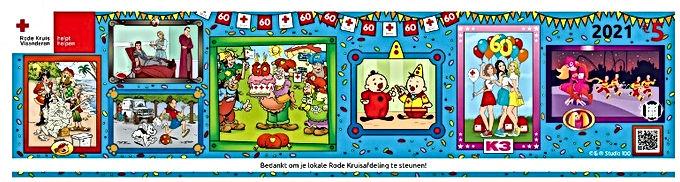 Rode Kruissticker viert 60e verjaardag met Studio 100-figuren