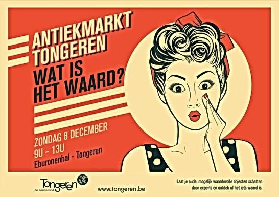 Zondag 8 december gratis schatting van je antiek op de Antiekmarkt in Tongeren
