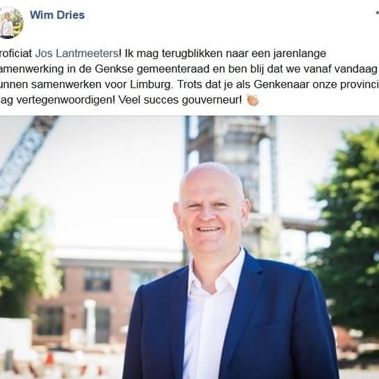 Jos Lantmeeters nieuwe gouverneur van Limburg