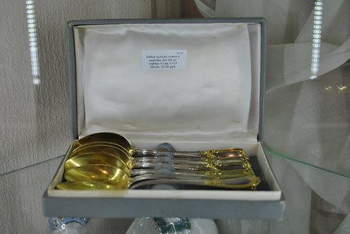 Набор чайных ложек, серебро 875 пр.