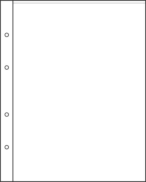 Листы для банкнот формата Optima на 1 бону, Россия