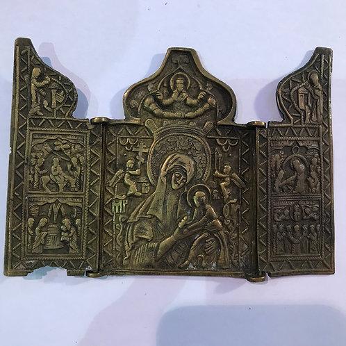 Складень Богоматерь Страстная, XIX век