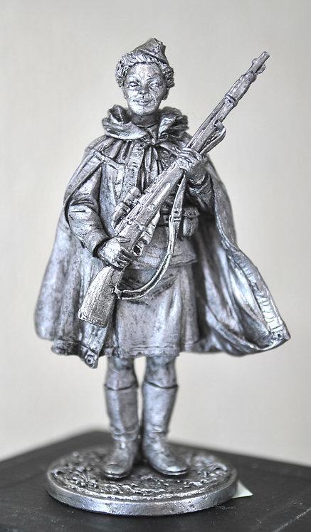 Снайпер 528-го стрелкового полка Наталья Ковшова