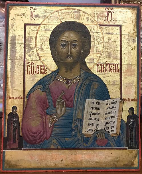Господь Вседержитель с предстоящими Евдокия и Афанасия, XIX век
