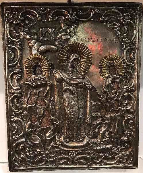 Богоматерь «Всех скорбящих радость», середина XIX в
