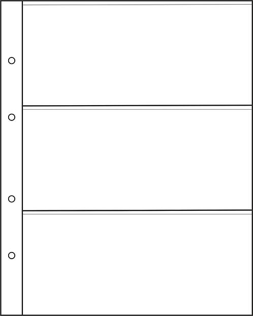 Листы для банкнот формата Optima на 3 боны, Россия