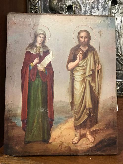 Св. Муч. Параскева и Св. Иоанн Креститель, вт. Пол. XIX века
