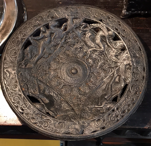 Ажурная тарелка с морскими божествами, без