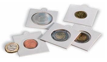 Холдеры для монет белые, самоклеющиеся - 30 мм