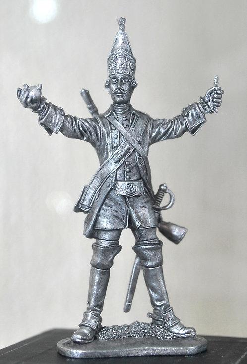 Гренадер драгунского полка. Россия, 1732-42 гг.