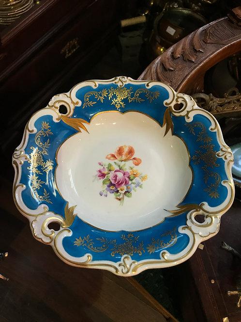 Ажурная тарелка с цветами Weimar, Германия