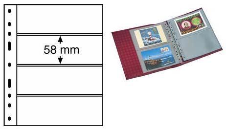 Листы для банкнот формата Optima на 4 боны, Германия