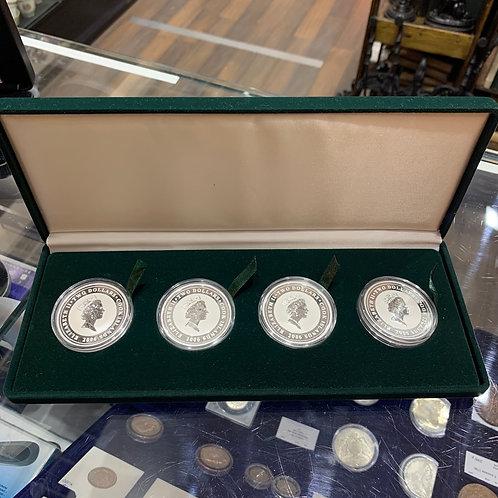 Набор монет 2$ 1930's Classic Speedsters, серебро