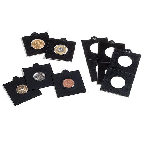 Холдеры для монет черные, самоклеющиеся - 27,5 мм