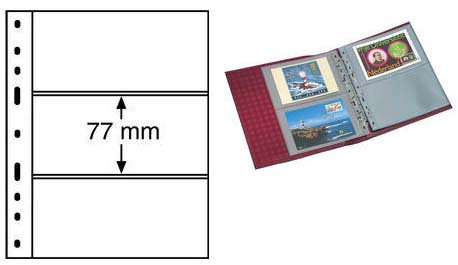 Листы для банкнот формата Optima на 3 боны, Германия