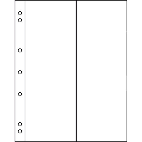 Лист для банкнот формата Numis  на 2 боны вертикальные,Германия