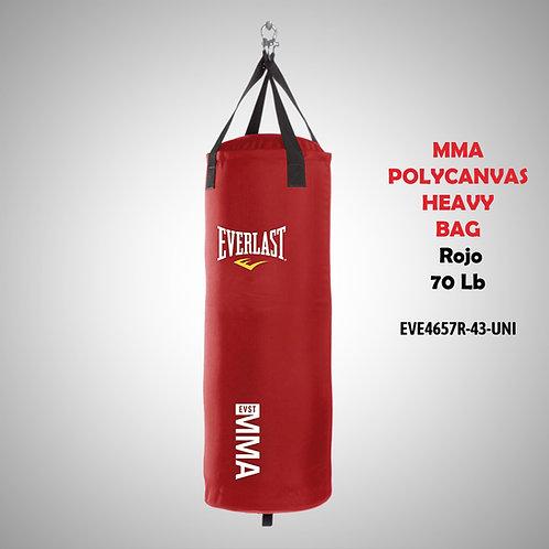EVERLAST SACO MMA POLYCANVAS HEAVY BAG 70 LB ROJO SHMMA4657RWB EVE4657R-43-UNI