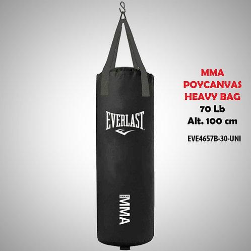 EVERLAST SACO MMA POLYCANVAS HEAVY BAG 70 LB NEGRO SHMMA4657BWBEVE4657B-30-UNI