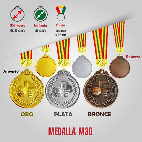 MEDALLA BASQUET COD: M30 (CHA00030-50-00A)