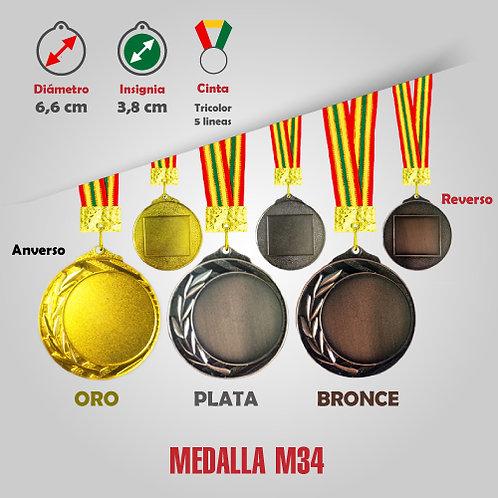MEDALLA COD: M34 (CHA00034-50-00A)