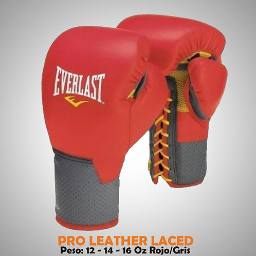 GUANTES ENT. PRO LEATHER LACED ROJO/GRISEVE-59120-57-12O