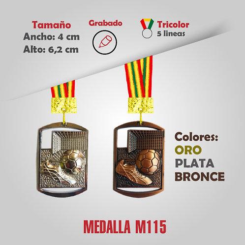 MEDALLA CUADRADA FÚTBOL COD: M115 (CHA00115-50-UNI)