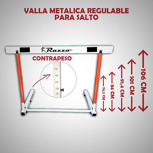 RAZZO VALLA METALICA DE ATLETISMO REGULABLE (RAZ85319-49-UNI)