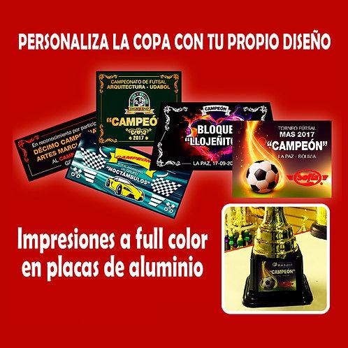 CHAMPION PLACAS METALICAS PERSONALIZADAS