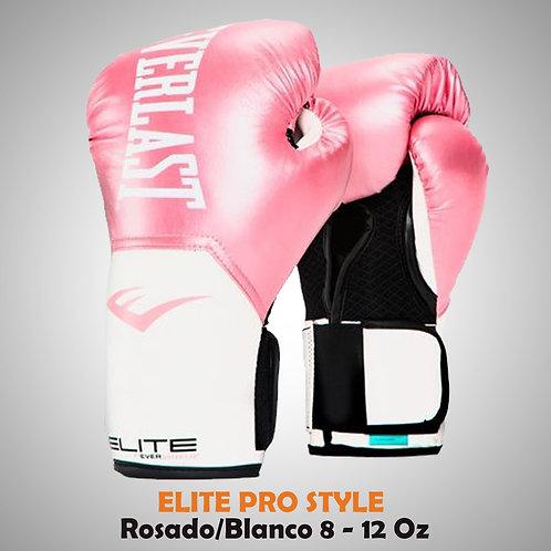 GUANTE DE BOX ELITE PROSTYLE ROSADO/BLANCO P00001244