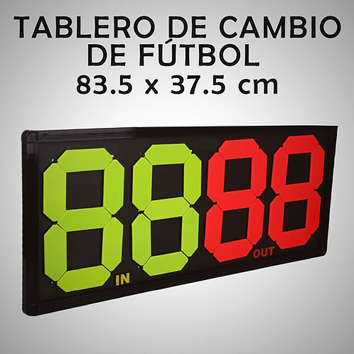 TABLERO DE CAMBIOS DE FÚTBOL MANUAL RAZZO (RAZ0T008-30-UNI)