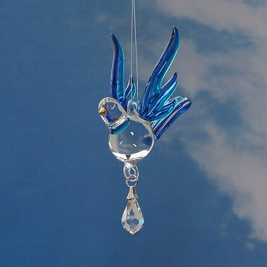 Songbird (sapphire colourE fantasy glass