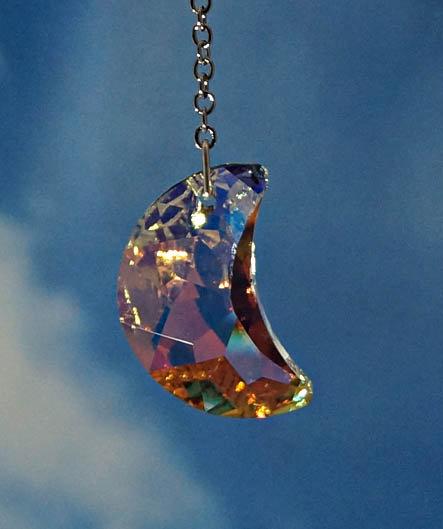 30mm moon  rainbow maker window crystal