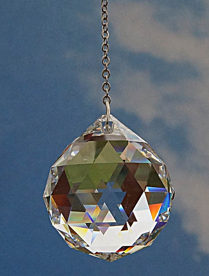 40mm Ball Shaped Rainbow Maker window crystal