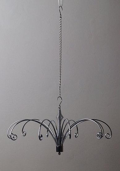 22cm Window Crystal Hanger - Silver